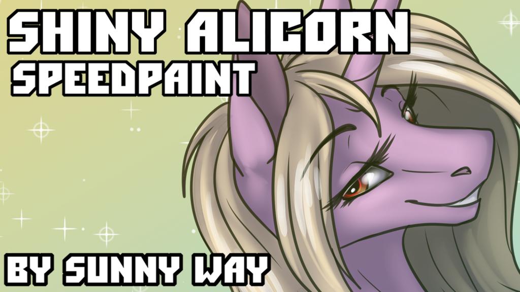Shiny alicorn - Speedpaint