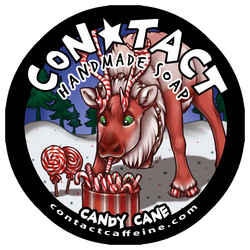 Candy Cane! Contact Soap Label