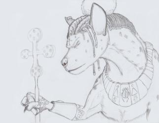 Werehyena Priestess