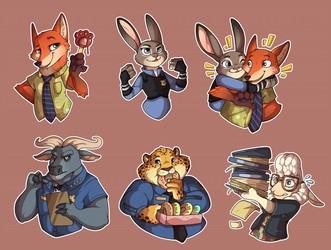Zootopia Stickers!