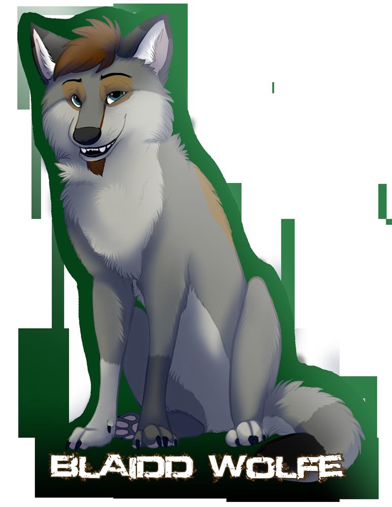 Full Body Digital Badge: Blaiddwolfe