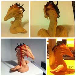 Akulatraxas bust sculpture