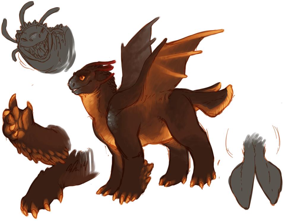 Chubby Lava Dragon