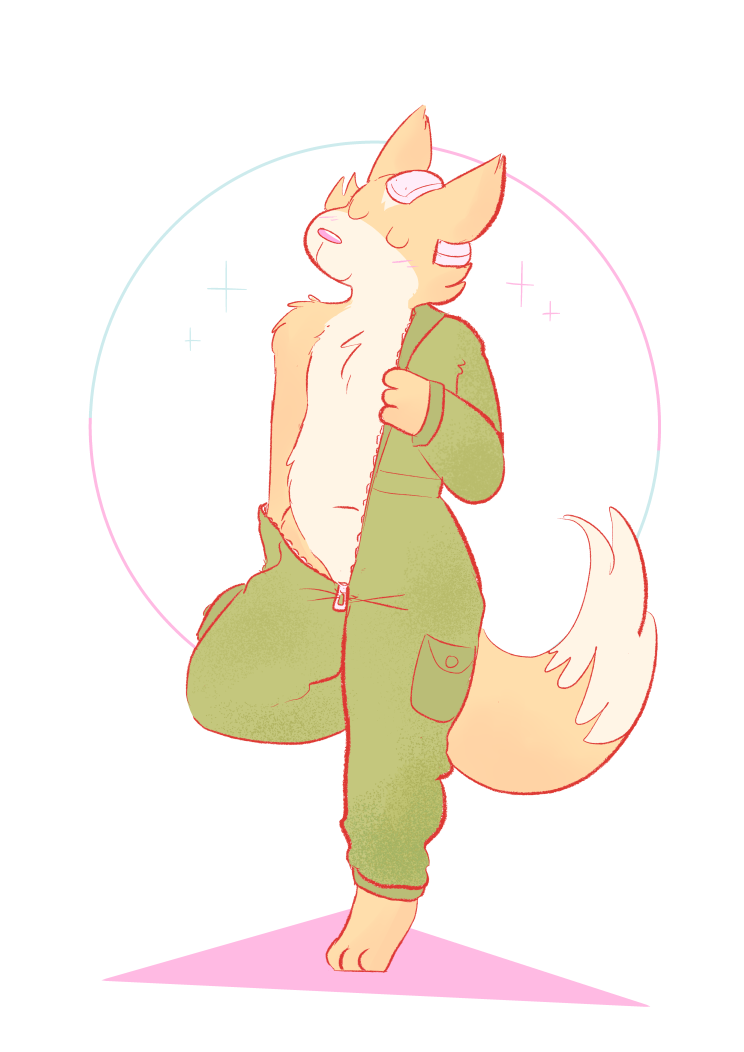 jumpsuit fox