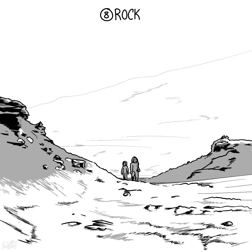 "Inktober 2016 - #8 ""Rock"""