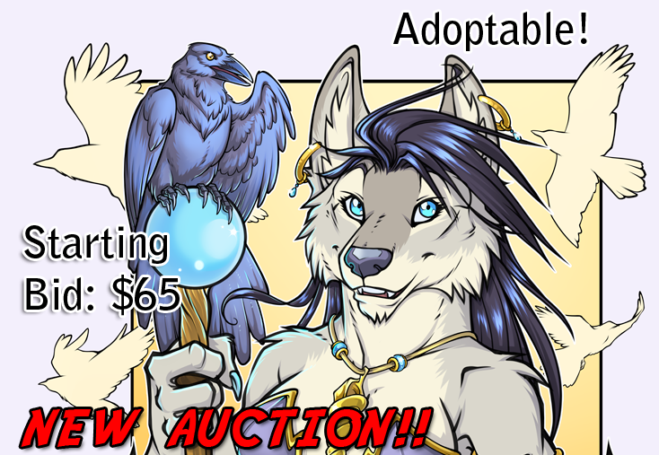 Raven Wolf Auction Starting Bid $65