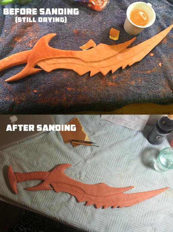 Progress on Daedric Swords