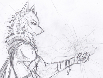 Messy sketch of wolfieness