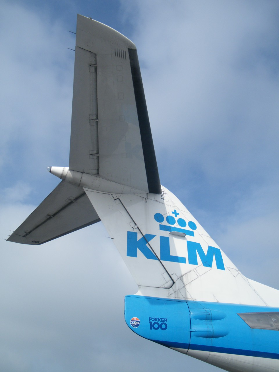 Tail of a Fokker 100