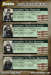 Avania Cast Roster - Black Lanners No.1