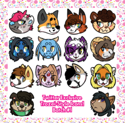 [commissions] Twitter Exclusive Icons - Batch 1
