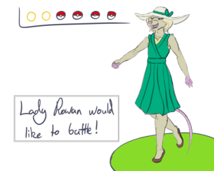 Lady Rowan challenges you to a fight!