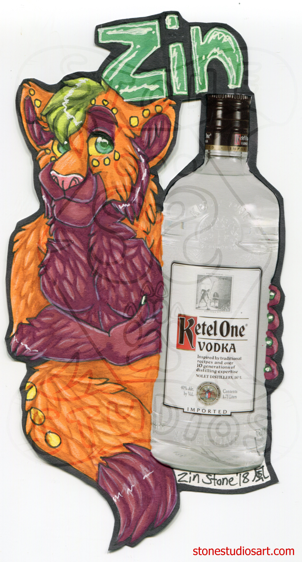 Zin Drink Badge - AC2018