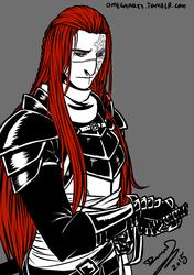 Blood red hair.