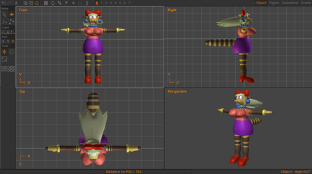 3D Modeling - Ashley Reiko Model Progress.