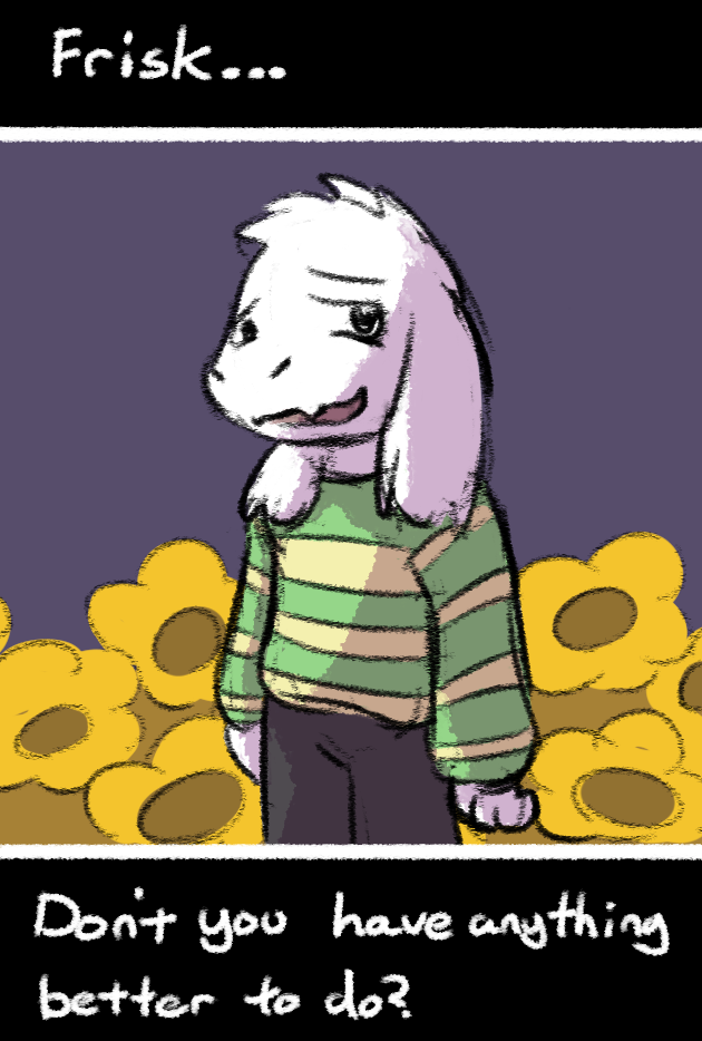 [Undertale Spoilers] Well, see you.