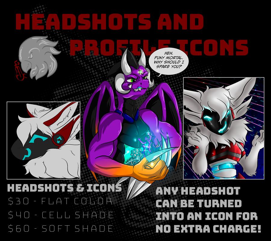 Comm Pricelist - Headshots