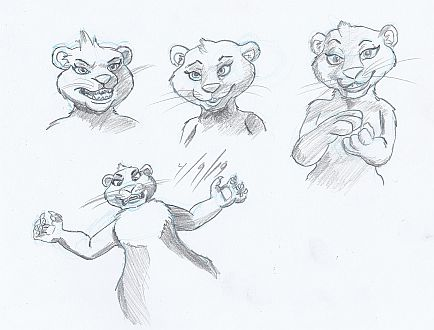 kate pencil sketches
