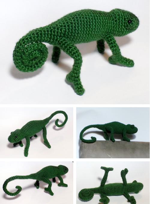 Custom Crochet Chameleon Weasyl