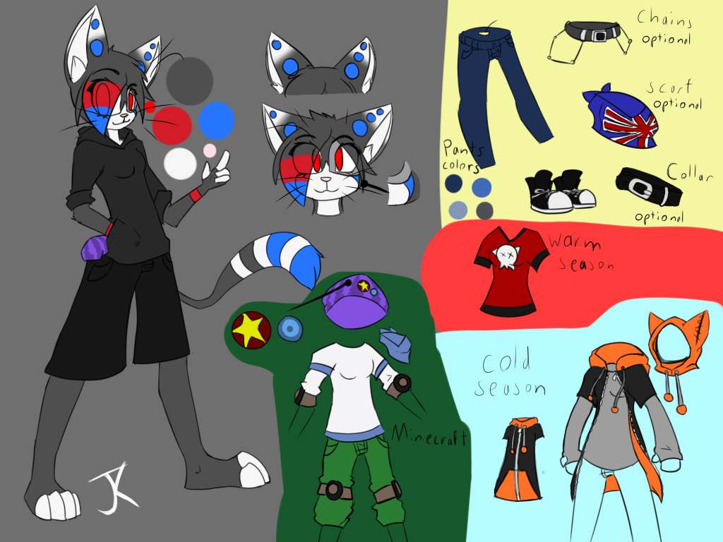 [OUTDATED]Jacky Koy - Fursona - Reference