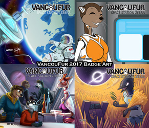 VancouFur 2017 - Badge Art