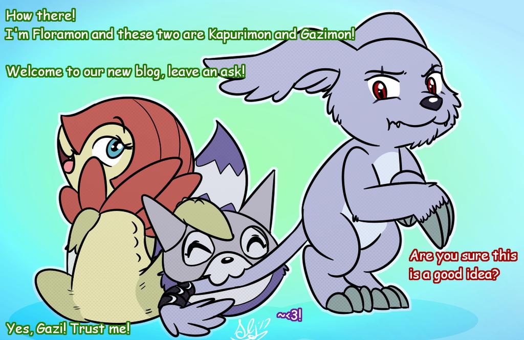 Banner for new Digimon Ask blog
