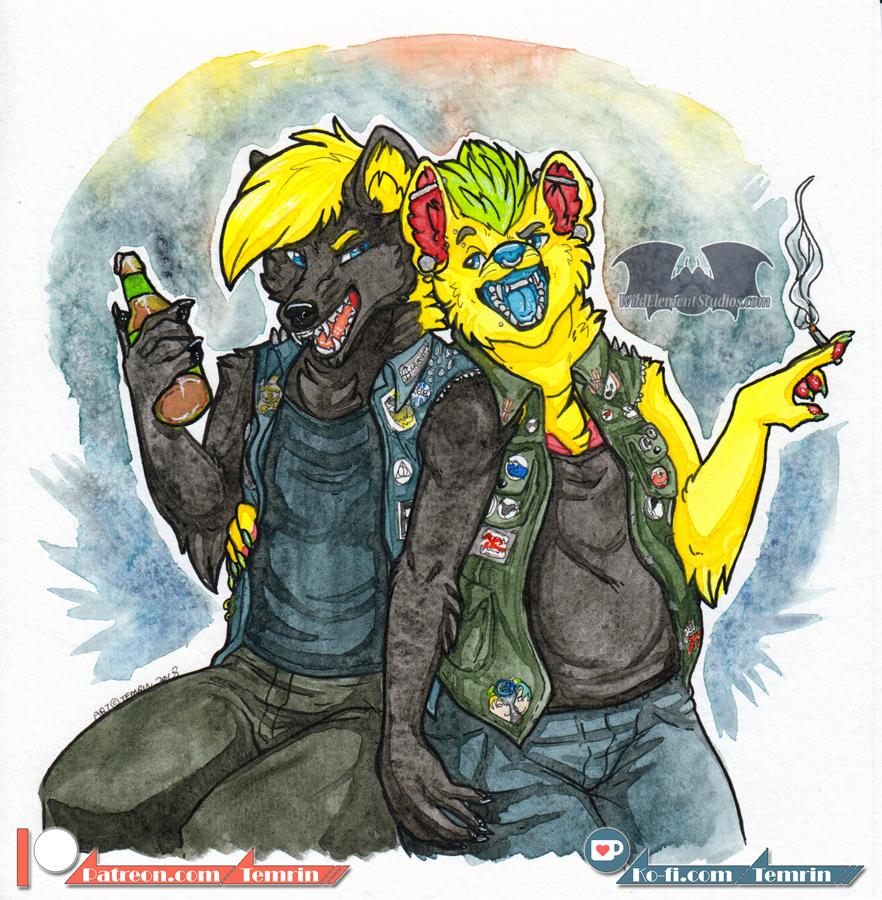 Fur-Eh - Sharpie & Konar Watercolour