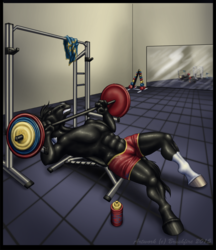 Behind the Barbell Cover Art Commission