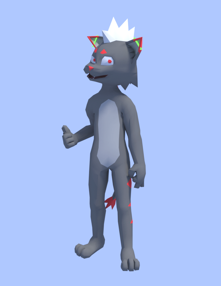 Jett 3D test render