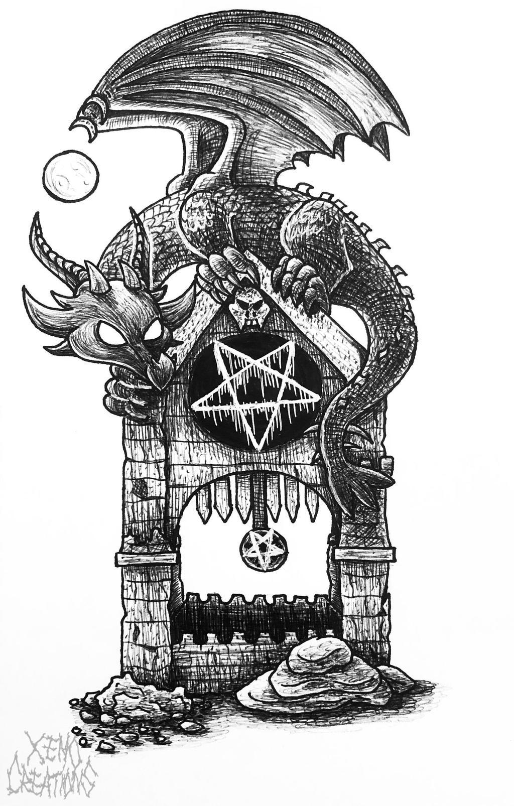 Ink 12. Dragon