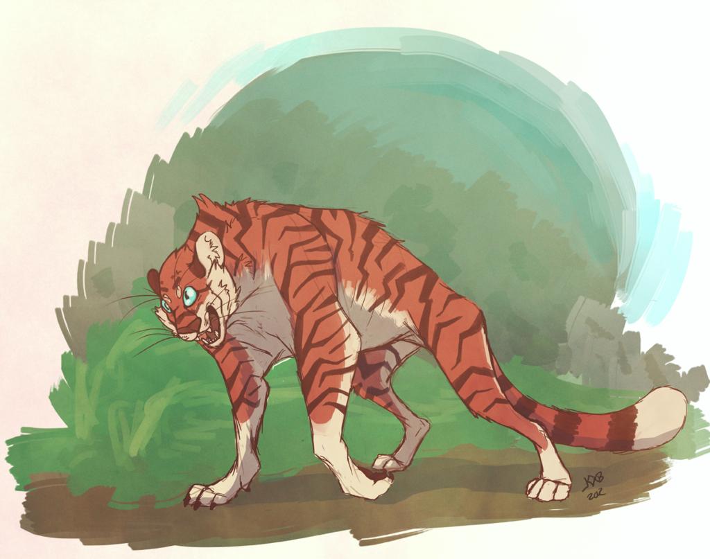 Stylized Tiger Doodle