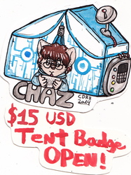 Tent Badge Commissions OPENED!