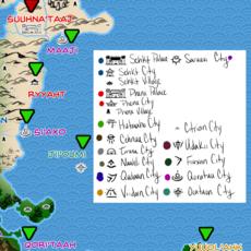 Phi'uja Maana Map, Northwest Quadrant