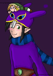 Ravio with a Link Plushie