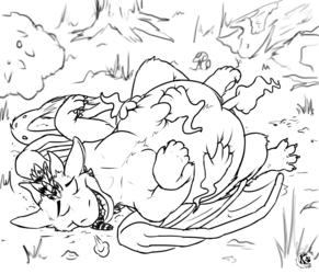 Ghosty belly rubs by Kobaltsilverstar