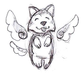 Procrastination the Winged Husky