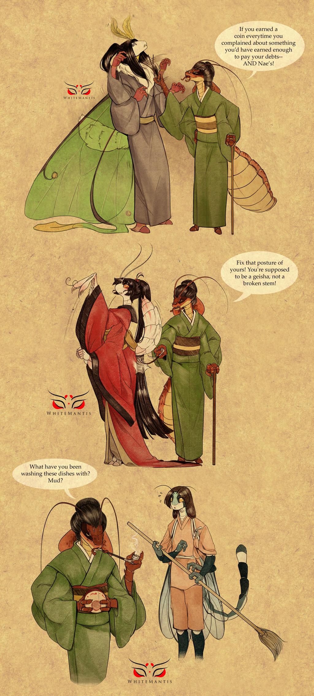 Blade Under Mask Doodles II: Asami Strikes
