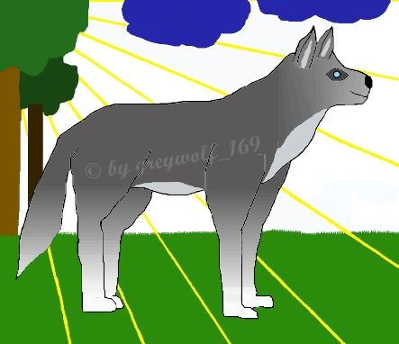 Most recent image: wolve at trees - finished