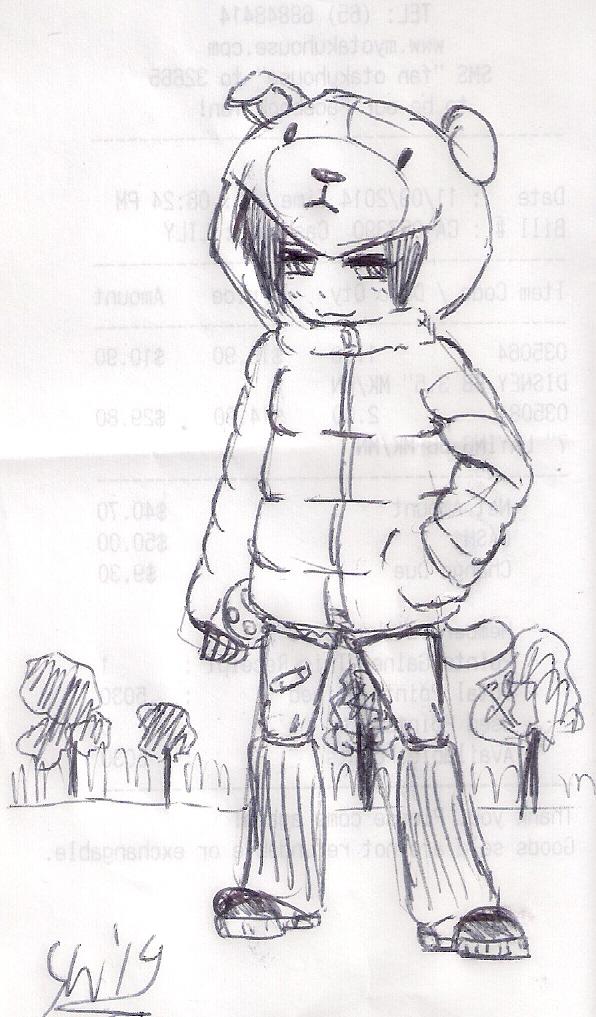 receipt sketch: puppy jacket