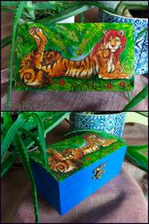 Tigress-pyrography box