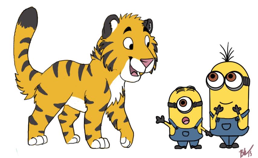 Minions and a Tiger Cub