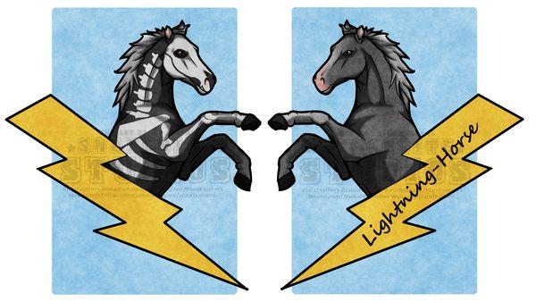 FanTCcon double sided badge: Lightning-horse