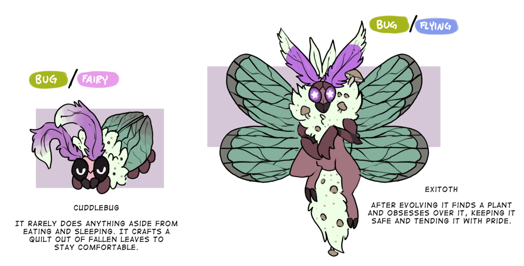 Cuddlebug / Excitoth (Fakemon)