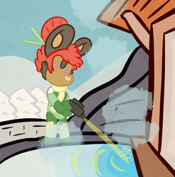 (Commission) An Ophelia prepares herself a bath.