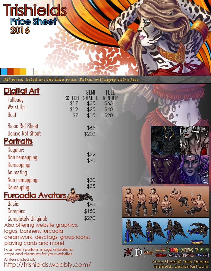 Price Sheet 2016 Updated