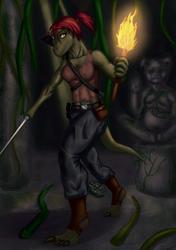 Exploring dark ruins