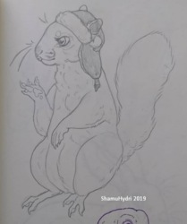 Squirrel in Ushanka Hat