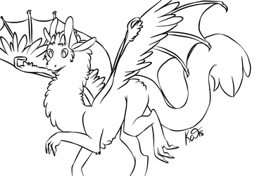 Dragon lineart