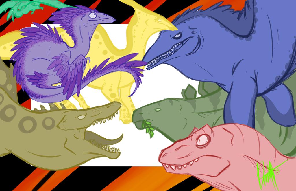 Sketch Dump #3  Dinosaurs