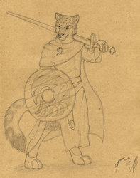 Cosmo the Knight (sketch by Qzurr)